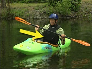 How to balance a kayak for efficient strokes