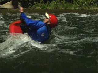 How to avoid flipping in a whitewater kayak