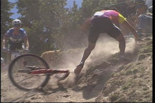 How to avoid crashing on a mountain bike.