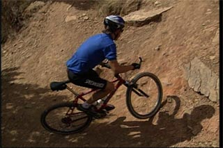 Handling switchbacks on a mountain bike