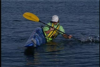 Learn the brace to remain upright in a kayak
