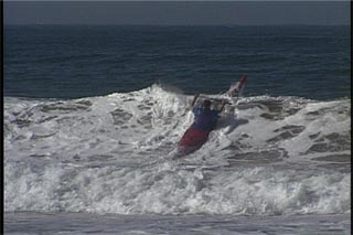Dealing with the surf zone in a kayak